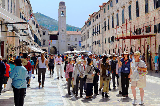 Visitors to Dubrovnik Old Town, Croatia