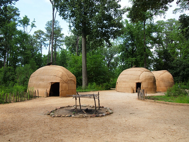 Jamestown Settlement Powhatan Village