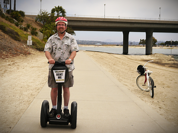 Joe, the Über-Tourist, on a Segway