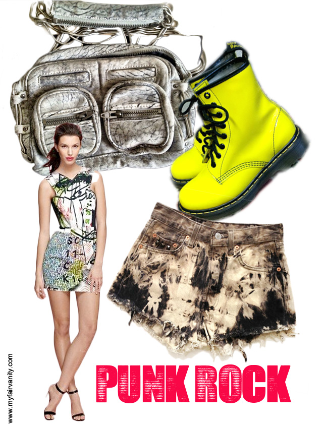 punk rock style, neon, my fair vanity, eco-friendly, style blog, rachel mlinarchik