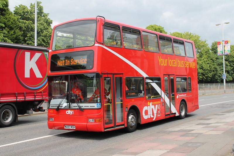 Plymouth Citybus 431 W483WGH