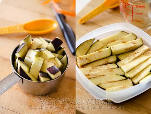 Prepped Eggplant