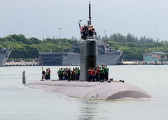 USS Charlotte (SSN 766) arrives in Singapore for a port visit and as part of exercise Cooperation Afloat Readiness and Training. (U.S. Navy photo by  Mass Communication Specialist 1st Class Jay C. Pugh)
