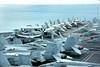 Aircraft on the USS George Washington flight deck by ABC News