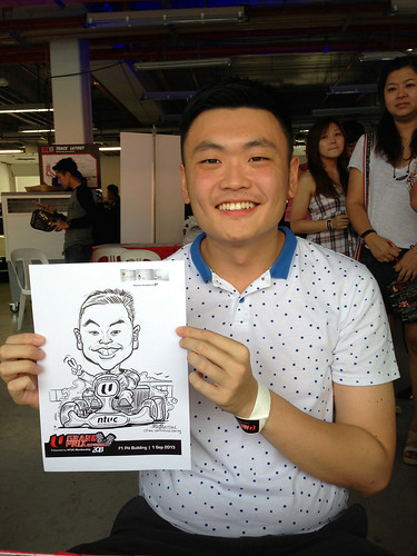 caricature live sketching for NTUC U Grand Prix Experience 2013 - 2