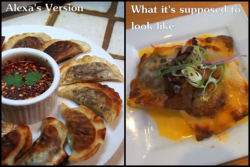 2 versions of Matt Basile's Beef Cheek Bulgogi Ravioli