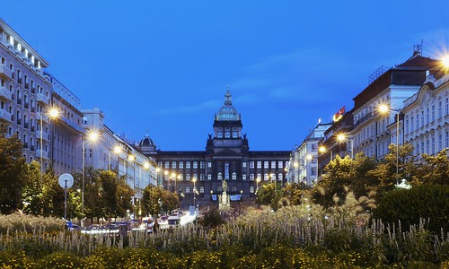 Wenceslas Square on a hot August night (explore)