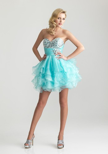 Baby Doll Sweetheart Sleeveless Empire Organza Dress For Prom