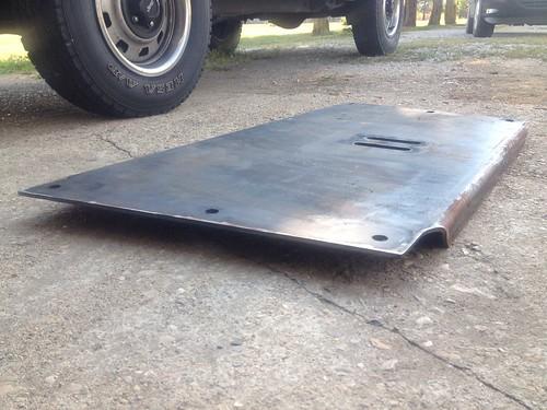 Flat transmission skid