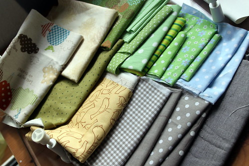 fabrics for a new quilt.