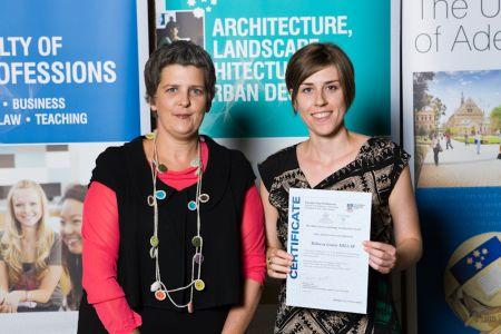 2011 Winner: Rebecca Millar Presented by Ms Tanya Court (Acting Head of School) on behalf on Botanic Gardens of SA