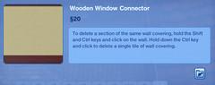 Wooden Window Connector