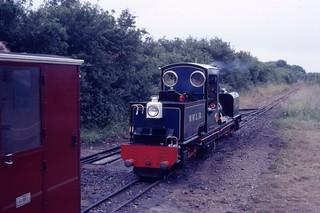 Neil Simkins 2-6-0+0-6-2 Garratt No. 3 'Norfolk Hero' (1986) Wells & Walsingham Railway, Wells-next-the-Sea, Norfolk 27.6.1988 Scans662