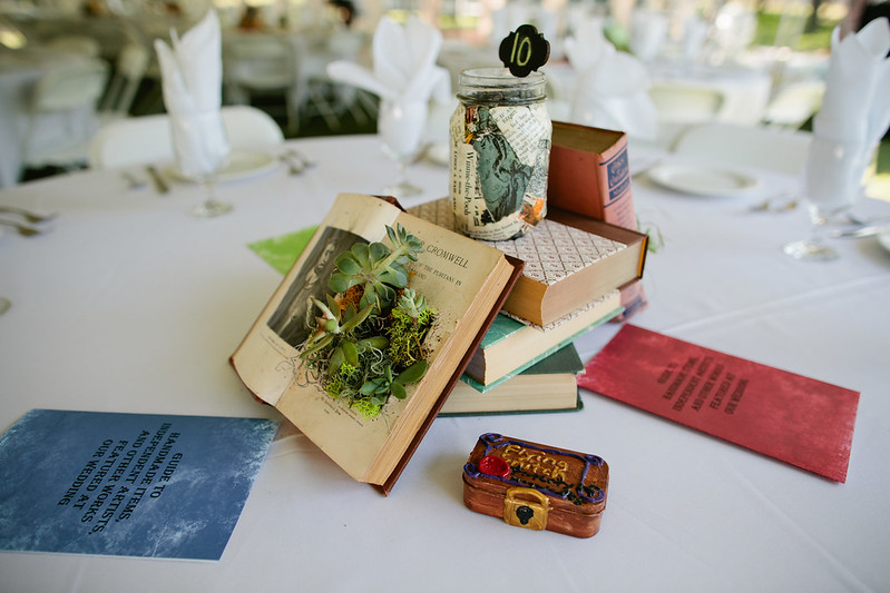 Book Centerpieces open page