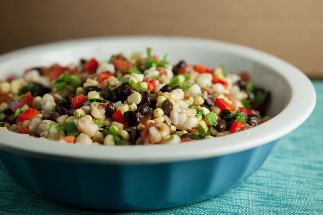 Fresh Mexican Corn Salad - it's a quick and delicious recipe using fresh ingredients!