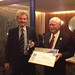 Philippe Küchler from Switzerland - FAI Air Sport Medal - with FAI President (right)