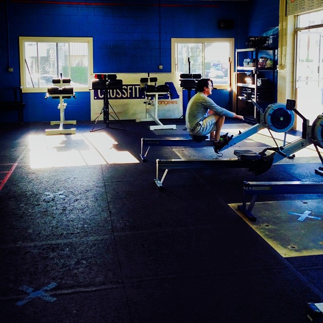 #Rowing in the #BlueRoom #concept2 #crossfit #EverythingFallsAway #schoolofmastery