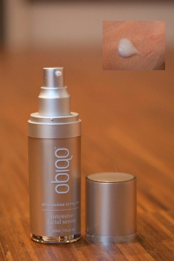 obiqo sea-inspired skincare review | intensive facial serum