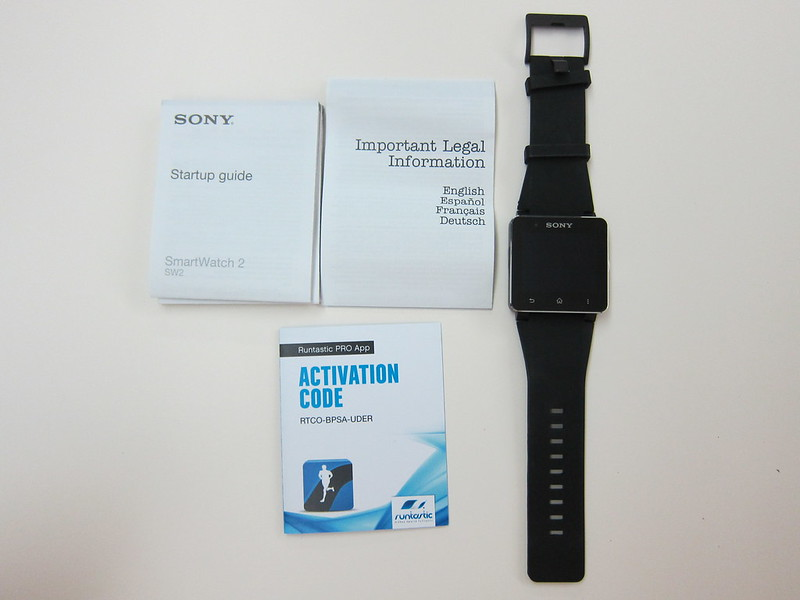 Sony SmartWatch 2 - Box Contents