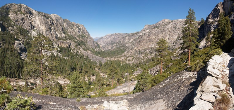 Looking down the Grand Canyon of the Tuolumne River from the Waterwheel Falls area