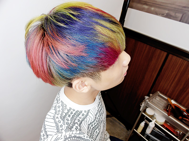 mixture rainbow hair