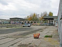 Das Reichsbahnausbesserungswerk in der Revaler Straße in Friedrichshain