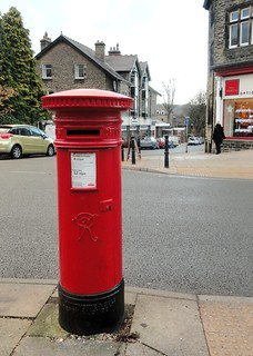 Victorian Handyside Pillar Box, The Grove, Ilkley