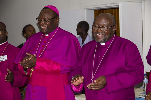 Bishops participate in singing