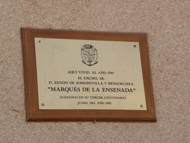 Placa del Marqués de la Ensenada
