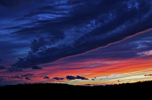 sunset red mountains landscape evening virginia nikon country shenandoah