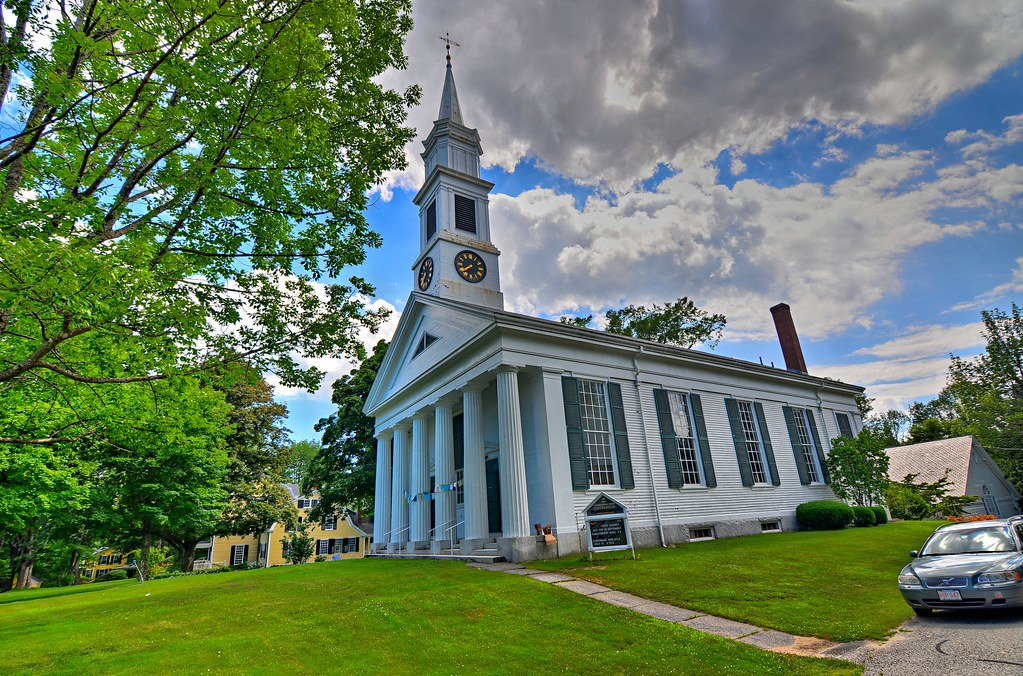 Petersham Unitarian Church - Petersham Common Historic District - Petersham MA