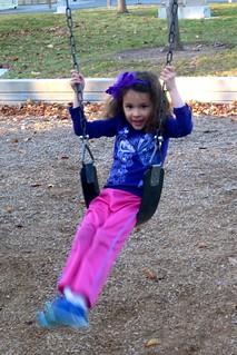 Vivian swinging