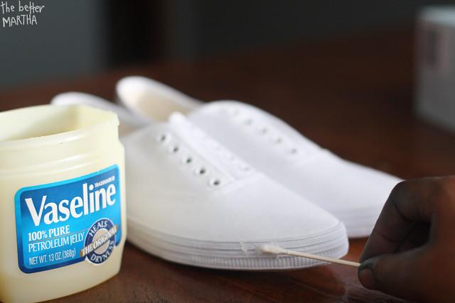 Step 1- Apply Vaseline