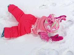 hand(0.0), flower(0.0), petal(0.0), footwear(1.0), snow angel(1.0), snow(1.0), pink(1.0),
