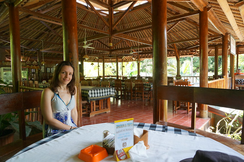 Restaurant at the Banjar Hot Springs in Bali