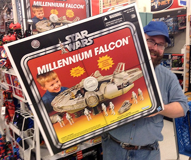 Star Wars Millenium Falcon at Toys R Us