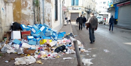 Tunis Streets Fill With Trash As Workers Strike
