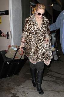 Dianna Agron Leopard Print Coat Celebrity Style Women's Fashion