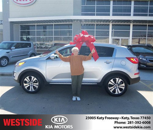 Happy Anniversary to Evelyn L Hill on your 2013 #Kia #Sportage from Rizkallah Elhallal and everyone at Westside Kia! #Anniversary by Westside KIA