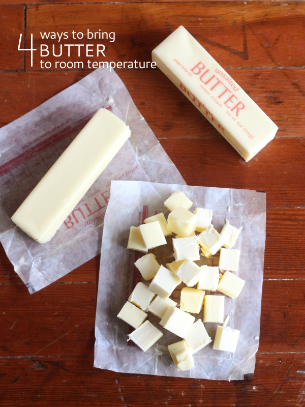 4 Ways to Bring Butter to Room Temperature // completelydelicious.com