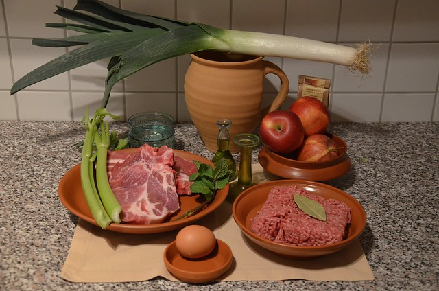 Minutal Matianum (Pork & beef with Apples) - Ingredients