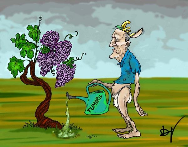 Noicattaro. Vignetta uso fitofarmaci