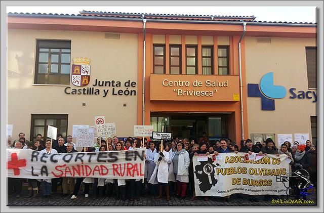1 Concentración en Centro de Salud Briviesca