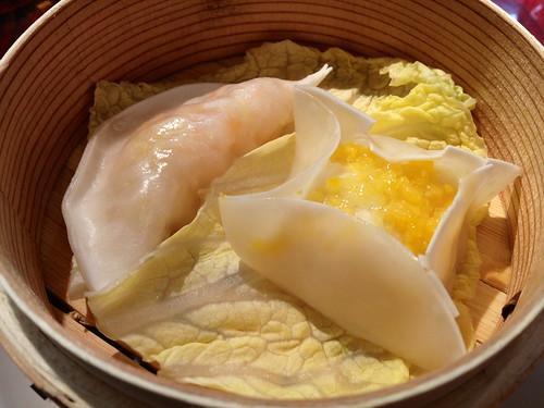 魚のすり身とエビの2種点心@龍口酒家 本店