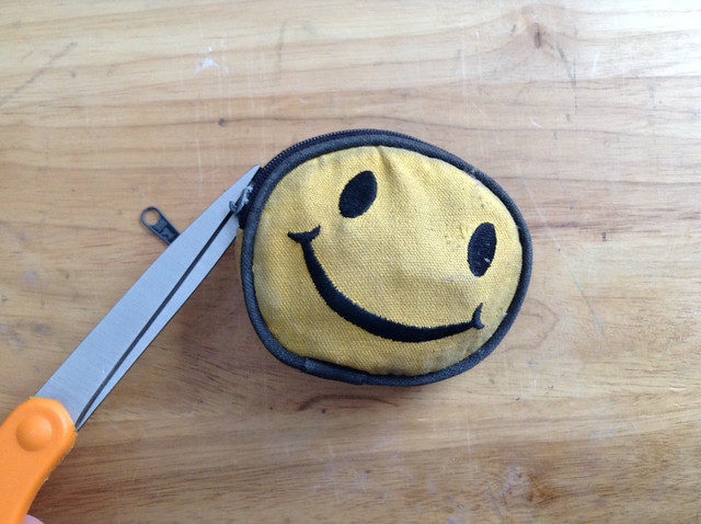 Smiley faced pouch time capsule