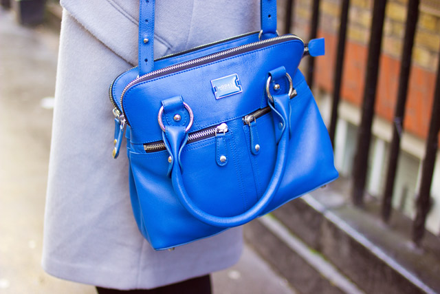 Modalu mini Pippa bag in azure blue