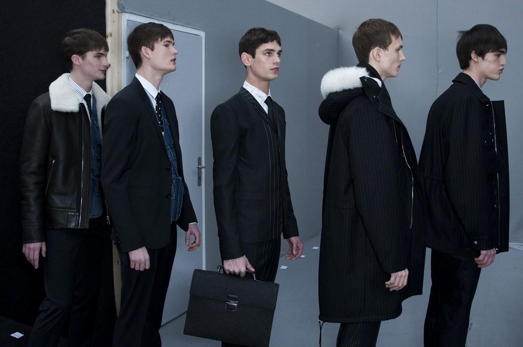 FW14 Paris Dior Homme260_Jan Purski, Felix Riess, Arthur Gosse, Egor Semenov, Florentin Glemarec(fashionising.com)
