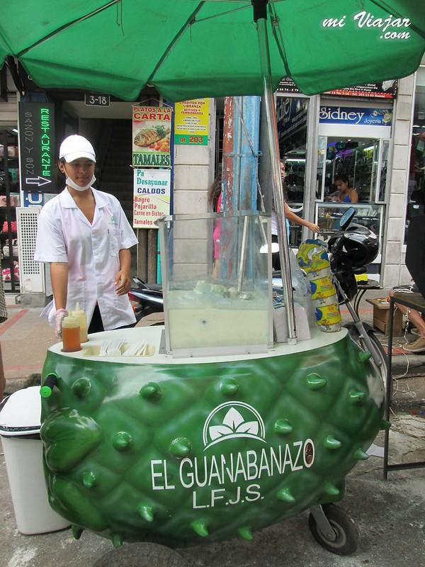 comida colombiana. Guanabanazo