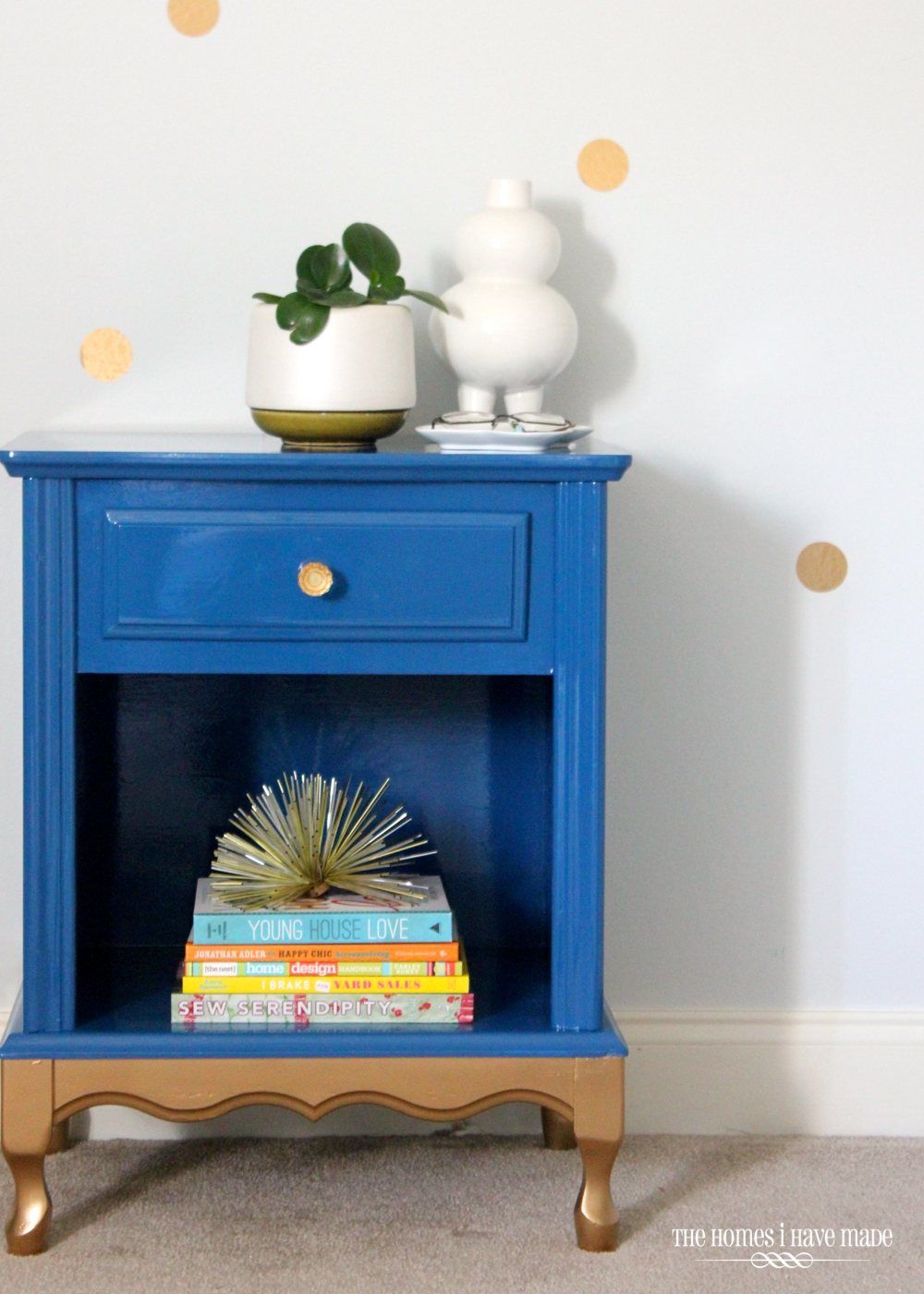 Blue and Gold Nightstand-001