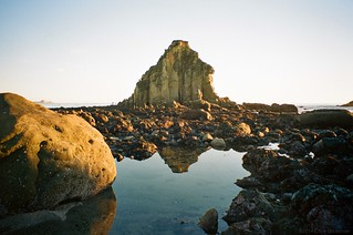 Tidepool Reflection - Olympus Stylus 100 WIDE (mju-III WIDE 100) - Ultramax 400